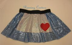 Alice inspired Sparkle Running Misses Circle by RunningCouture Run Disney Costumes, Running Costumes, Cosplay Costumes, Disney Princess Half Marathon, Disney Marathon, Disney Running Outfits, Mud Race, Sparkly Skirt, Disney Races