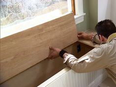 How to build a built in banquette storage bench