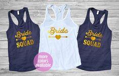 Bride Squad Tank Top Bride Squad Shirt Bachelorette Party