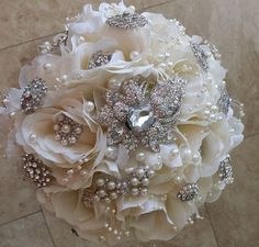 silk flowers wedding bouquets diy | silk flower bridal bouquets evaline s bridal blog DIY BROOCH BOUQUET ...