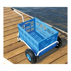 Never wait or search for a #dock #cart again!  With your own collapsible cart, it's always there when you're ready for it! Taylor Made Collapsible Dock Cart #baylinerboataccessories