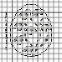 Cross Stitch Fabric, Cross Stitch Flowers, Cross Stitch Patterns, Filet Crochet Charts, Free Crochet, Easter Bunny, Easter Eggs, Easter Garland, Easter Crochet