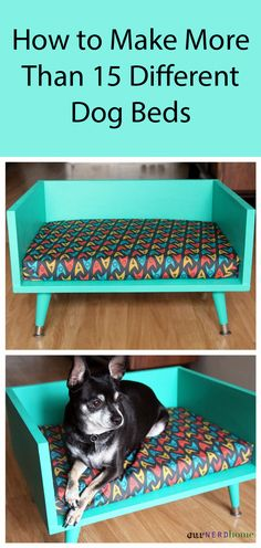Diy dog ​​bed - mid century style pet bed - with a touch of Star Trek Diy Pet, Diy Dog Bed, Large Dog Bed Diy, Pet Beds Diy, Pet Beds For Dogs, Homemade Dog Beds For Large Dogs, Cute Dog Beds, Pets 3, Cat Beds