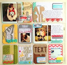 Don't have many pictures for #projectlife this week? Fill your page with words!