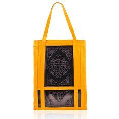 Medusa Florence Tote Bag - Black/ Yellow