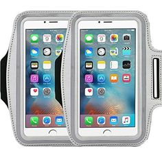 """Universal Sports Armband Casehigh Shop Running-Exercise Gym Sportband Water Resistant Sweat Proof Key Holder Running Pouch Touch Good For hiking,Biking,Walking Screen Up To 5.7 inch (Silver 2 Pack). Universal Designed: Up to 5.7"""" diagonal size. This waterproof dry bag fits almost all of phones, for instance, Apple iPhone 4/4S,iPhone SE/5S/5,iPhone 6/6s,iPhone 6 Plus/6S Plus, Samsung Galaxy S4/S5/S6 edge, Samsung Galaxy S7/S7 edge, Samsung note 4/ note5, LG G5 ,LG K7, LG K10, Nokia Lumia..."""