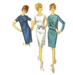 1960s Shift Dress Pattern Simplicity 6003 B34 Sz by willynillyart