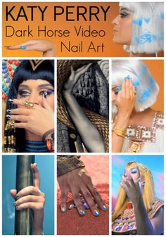 Katy Perry Dark Horse Video Nail Art. I want to try all of these!