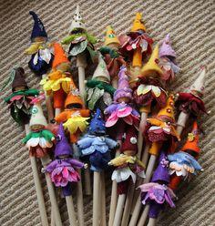 Pencil gnomes made for Waikato Waldorf School Advent Fair.