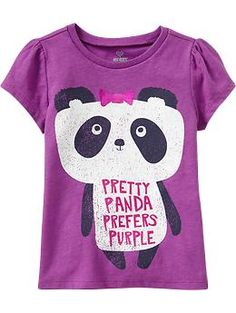 Cute idea to transform a regular bear cutter into a panda! Originally a Graphic Crew-Neck Tee for Baby   Old Navy