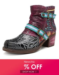 c8b3e4871d SOCOFY Cowgirl Genuine Leather Zipper Flat Comfy Boots Comfy Casual, Flat  Boots, New Chic