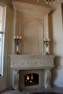 Fireplaces On Pinterest Cast Stone Fireplace Cast Stone And Mantels