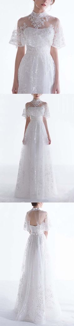 Charming Lace Formal Inexpensive Long Bridal Wedding Dresses, BG51625 #wedding #weddingdress #bridaldress