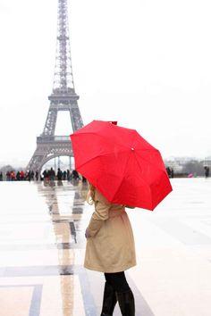 Paris Photography - Eiffel Tower Paris in the rain- Paris Red Wall Art - Ruby Red - Paris Home Decor - Red Umbrella in Paris - Rain in Pari Umbrella Photography, Paris Photography, Hotel Des Invalides, Paris Home Decor, Red Wall Art, Paris Girl, Red Umbrella, Paris Eiffel Tower, Eiffel Towers