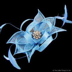 Haydock Flower Comb Fascinator with Jewel Blue - £22