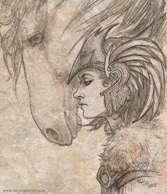 Valkyrie sketch by ~tygriffin on deviantART