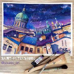 1,659 отметок «Нравится», 95 комментариев — Anastasia Mamoshina {Youkki} (@youkki_art) в Instagram: «Hi guys¡ Here it is my second painting for our Art Marathon Drawing Saint-Petersburg. This week…»