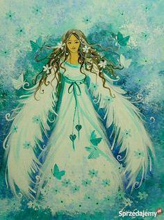 Angel Theme, Zelda Twilight Princess, I Believe In Angels, Unicorns And Mermaids, Angels Among Us, Guardian Angels, Angel Art, Magical Creatures, Acrylic Painting Canvas