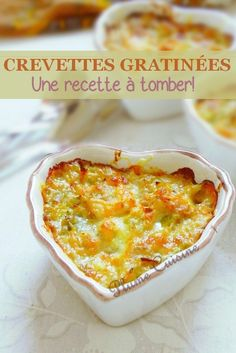 Crevettes gratinées Yes seriously these shrimp au gratin are to die for. This shrimp recipe is also called shrimp, but whatever the name, the most important is delicious! Healthy Dinner Recipes, Snack Recipes, Cooking Recipes, Fish Recipes, Seafood Recipes, Tapas, Brunch, Macaroni And Cheese, Good Food