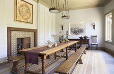 Craftsman Dining Room in San Rafael, CA by Huniford Design Studio