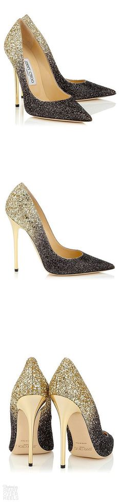 101 Gorgeous Shoes From Pinterest - Heart Over Heels #fashion #inspiration Zapatos Shoes, Shoes Heels, Stiletto Heels, Shoe Boots, Stilettos, Black Louboutin Heels, Black Glitter Heels, Gold High Heels, Sparkly Heels
