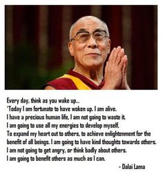 Dalai Lama morning meditation - Choose your thought, Create your life, Change the world. Wisdom Quotes, Life Quotes, Food Quotes, Great Quotes, Inspirational Quotes, Motivational, Vipassana Meditation, Meditation Quotes, Morning Meditation