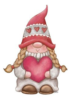 Christmas Arts And Crafts, Christmas Gnome, Christmas Decorations, Illustration Noel, Illustrations, Gnome Paint, Pinterest Valentines, Mode Poster, Rock Painting Ideas Easy