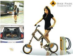 Bike pack : portable commuter that can be folded away