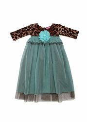 Haute Baby Chelsea Girl Leopard Baby Gown *Pre Order* only $56.00 - New Items