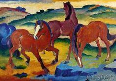 Franz Marc - Die roten Pferde