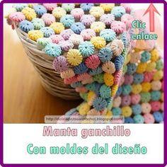 Delicadezas en crochet Gabriela: Mantas en ganchillo