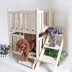Petsfit Doubel Deck Wooden Pet Bed,Dog Bed,Cat Condo(W/O Mat) -- To view further for this item, visit the image link. (This is an affiliate link) Cute Dog Beds, Diy Dog Bed, Cat Bunk Beds, Pet Beds, Wooden Dog House, Wooden Cat, Crate Furniture, Steel Furniture, Furniture Dolly