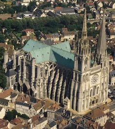 Chartres Cathedral (French: Cathédrale Notre-Dame de Chartres) The current cathedral, mostly constructed between 1194 and 1250, is the last of at least five which have occupied the site since the town became a bishopric in the 4th century.