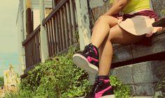 Hole In Jean Pocket: PUMA Sky Wedge: Catwalk on the Sidewalk