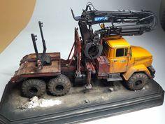 KRAZ - 6446 timber truck ( Takom+scratchbuild 1/35 ) By Pavol Valo