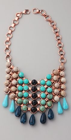 "Dannijo ""Medine"" Bib Necklace."