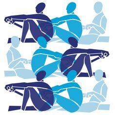 Rowers in Blues print