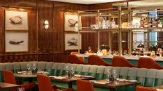 Martin Brudnizki Design Studio is delighted to announce the redesign of Café Boulud, a classic mid-century brasserie with a contemporary. Restaurant Design, Restaurant Bar, Restaurant Interiors, Holborn Dining Room, Pet Friendly Hotels, News Cafe, Banquette Seating, Toronto, Interior Design