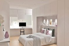 Simple Decor Ideas For Teen Girl Bedrooms Bedroom Wardrobe, Home Bedroom, Modern Bedroom, Bedroom Furniture, Bedroom Decor, Home Interior, Interior Design Living Room, Fitted Bedrooms, Small Space Interior Design