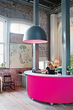 The lobby at Villa Augustus, Dordrecht, The Netherlands #interiors