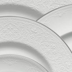 elegant white on white lace detail