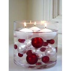 Christmas Ornaments with Floating Candles by Jenifer Crandell