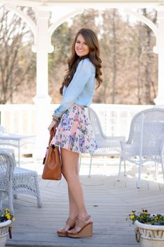 chambray and florals…