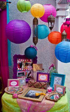 New indian bridal shower ideas bollywood birthday parties Ideas Indian Party Themes, Indian Theme, Moroccan Theme, India Theme Party, Bollywood Party Decorations, Bollywood Theme Party, Birthday Decorations, Arabian Party, Arabian Nights Party