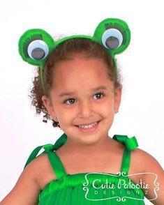 Enchanted Toad  Frog Eyes Costume Headband by Cutiepatootiedesignz