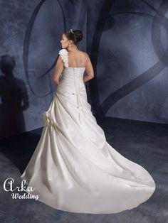 Νυφικα Φορεματα ΟΙΚΟΝΟΜΙΚΑ : Νυφικό Φόρεμα, Satin, Λευκό,.. Κωδ. 3071 Plus Size Wedding Gowns, Wedding Dresses, Satin, One Shoulder Wedding Dress, Image, Women, Fashion, Bride Dresses, Moda