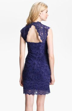 nicole miller dark blue lace dress - Google Search
