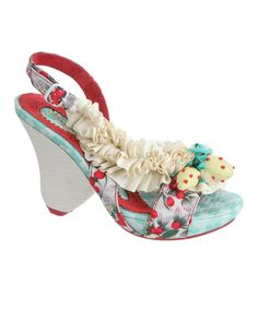 Look at this Irregular Choice Beige & Yellow Raspberry Ripples Slingback on #zulily today!