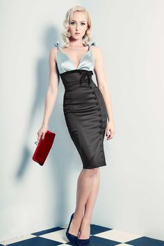 A perennial classic, the Irma La Douce Pencil Skirt is elegantly cut in double layered stretch matte deluxe satin to create the perfect silhouette.