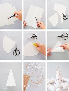 DIY // sapin en cône de papier